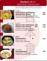 Ricebowl dishes