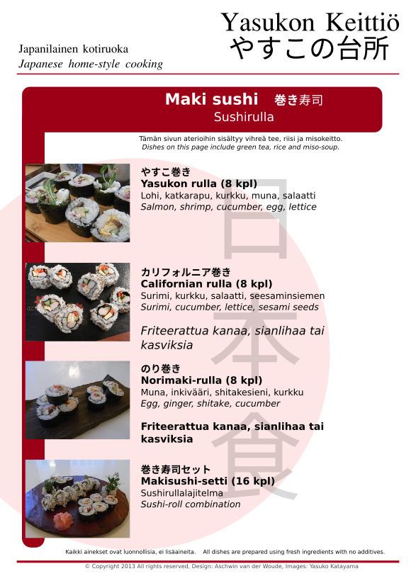 Sushirullat (maki sushi)